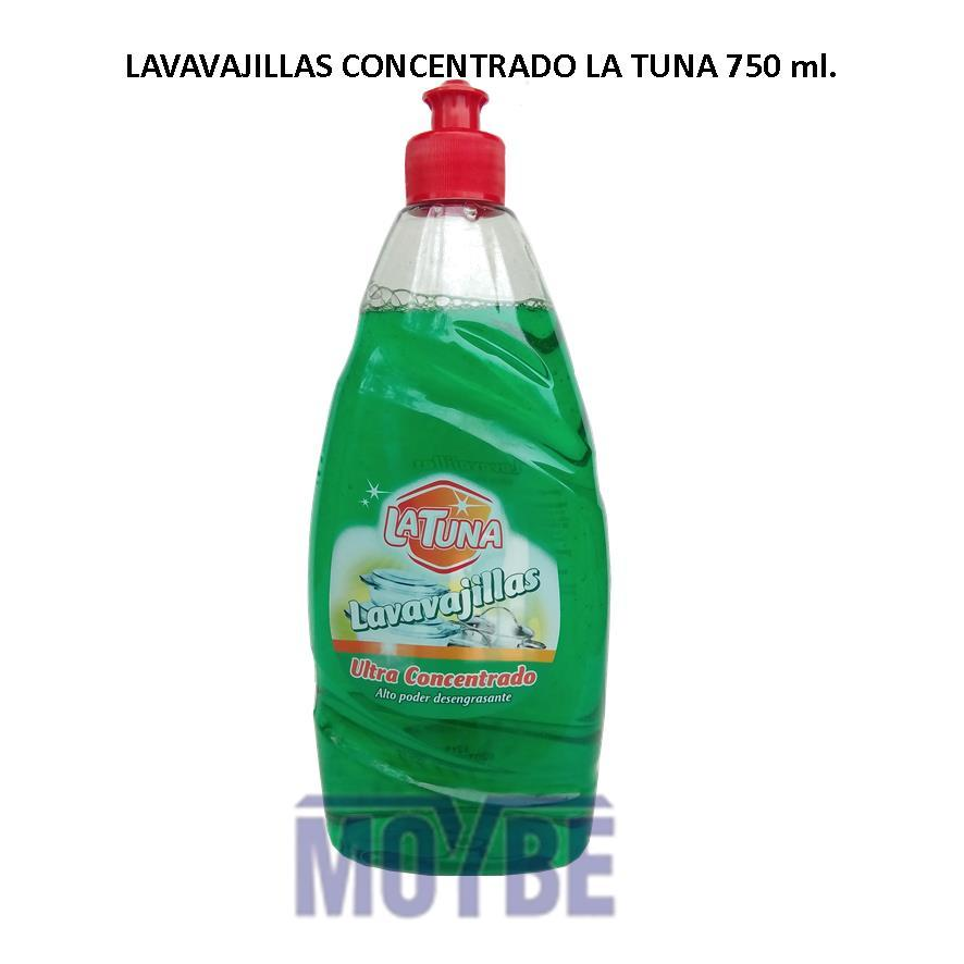 Lavavajillas Concentrado Ultra LA TUNA 750 ml.
