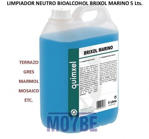Limpiador Neutro Bioalcohol BRIXOL MARINO 5 Litros