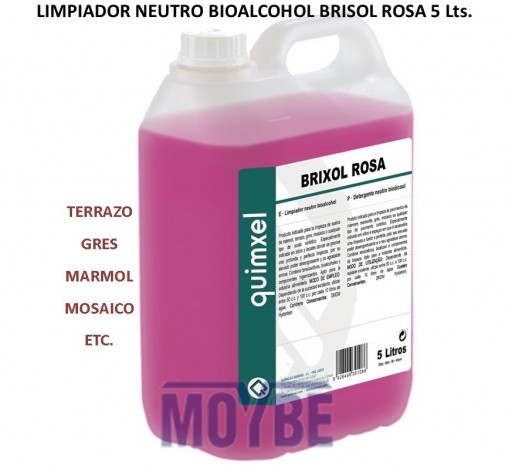 Limpiador Neutro Bioalcohol BRIXOL ROSA 5 Litros [0]