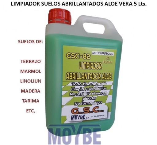 Limpidor Abrilantador Todo Tipo De Suelos Aoe GSC-82 5 Litros