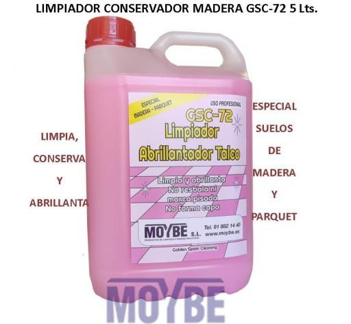 Limpiador Conservador Abrillantador Suelos Madera/Parquet GSC-72 5 Litros