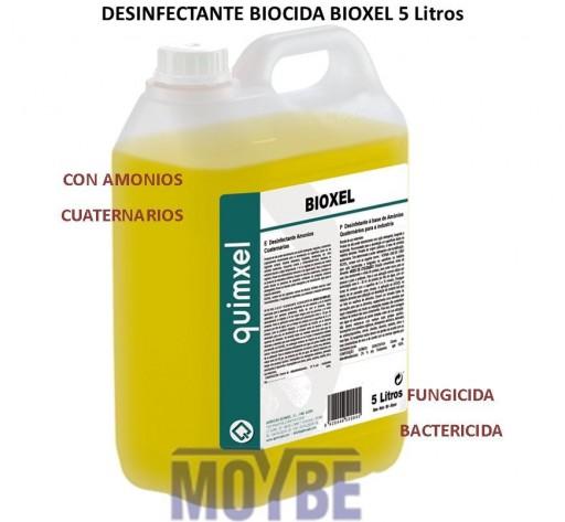 Limpiador Desinfectante Viricida Amonios Cuaternarios BIOXEL 5 Litros