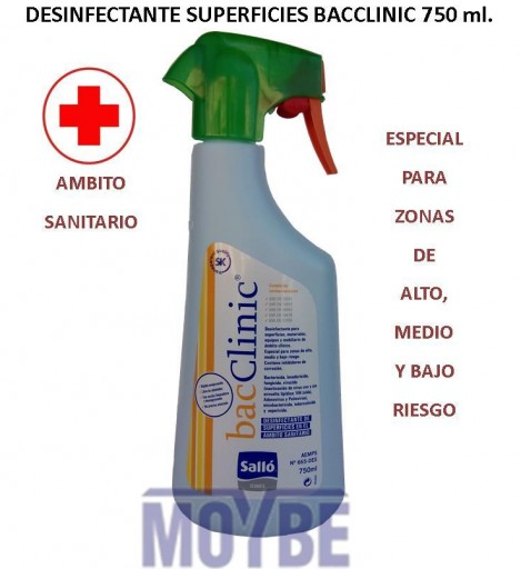 Desintectante Multisuperficies Ambito Sanitario BACCLINIC 750 ml. Pistola