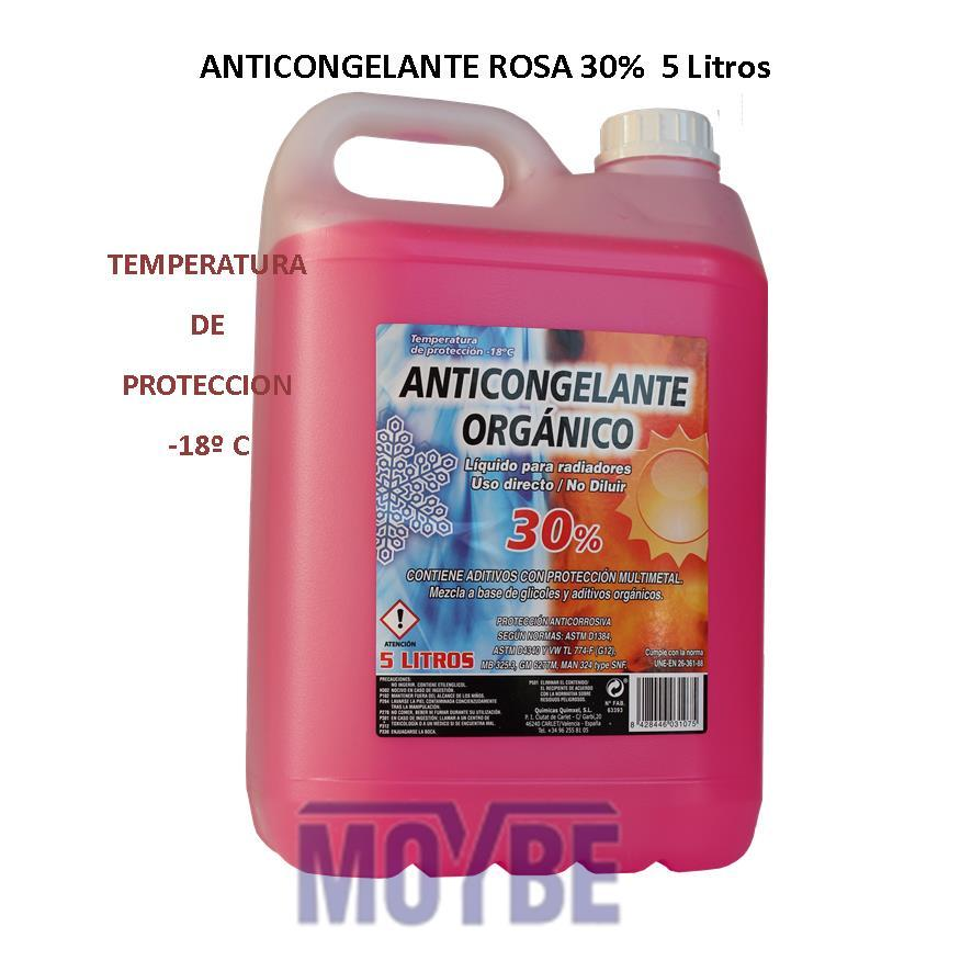 Anticongelante Refrigerante Orgánico 30% - 18ºC 5 Litros