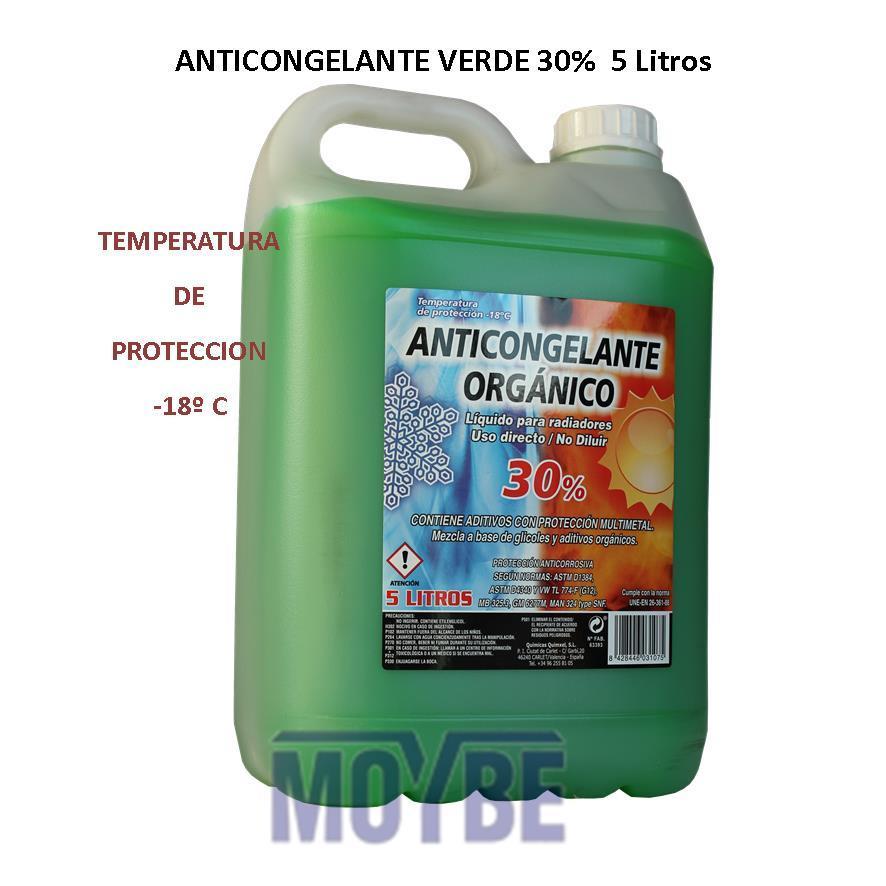 Anticongelante Refrigenate Orgánico 30% -18ºC