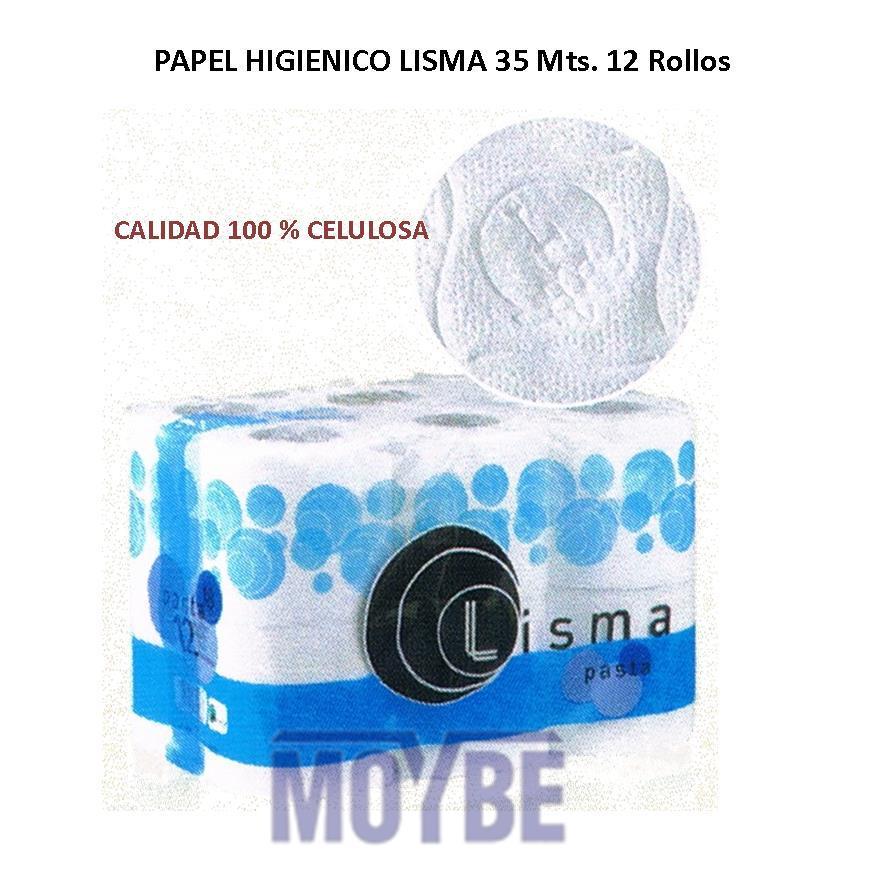 Papel Higiénico LISMA Pasta 35mts (12 rollos)