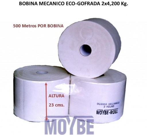Bobina Mecánico Eco-Gofrada 2 Capas 500 (2 Unidades)