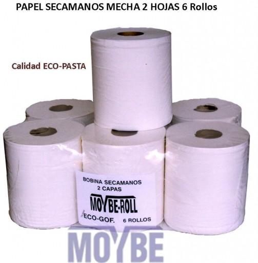 Papel Mecha Micro Encolado Eco-Pasta (Paquete de 6 rollos)