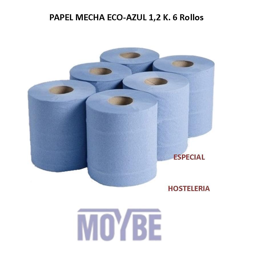 Papel Mecha ECO-AZUL 1.200 Grs. 6 Rollos