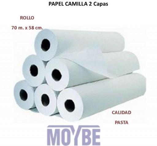 Papel Camilla PASTA 70 mts. 2 Capas (Caja 6 unidades)