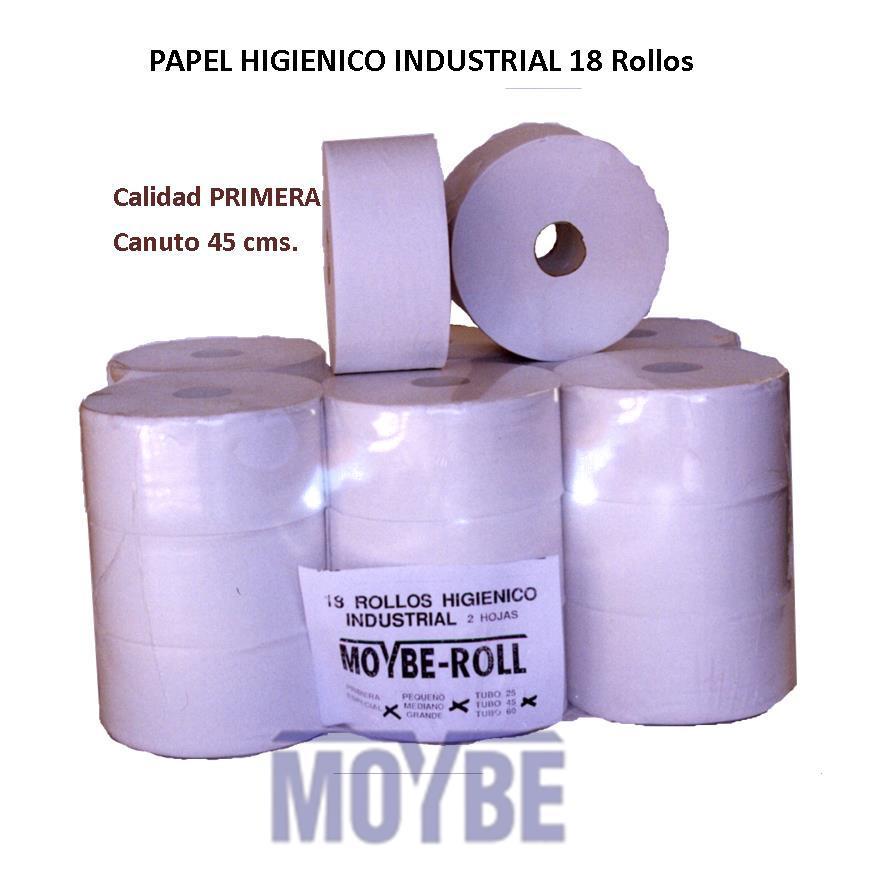 Papel Higiénico Industrial 400g 2 Capas Tubo 45 (Caja 18 Unidades)