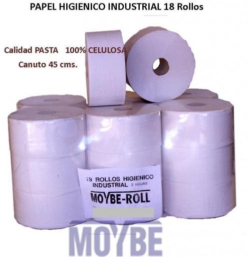 Papel Higiénico Industrial Micro-Pasta Tubo 45 (Caja 18 Unidades)