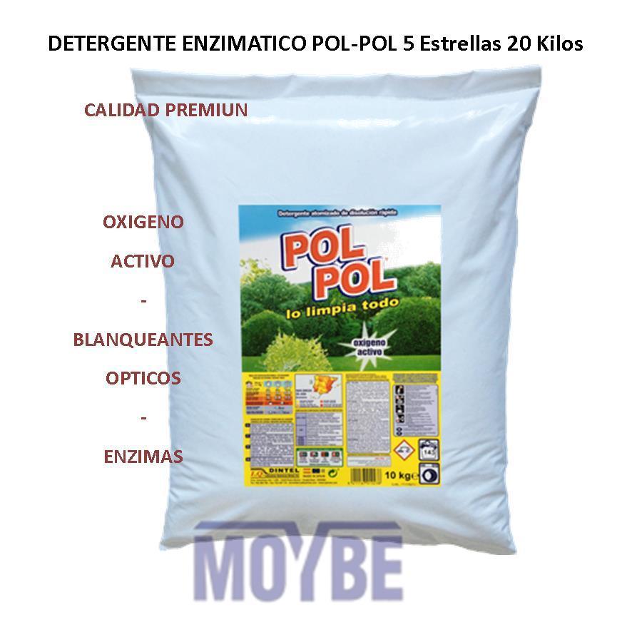 Detergente Enzimático POL-POL 5 Estrellas (Saco 20kg)