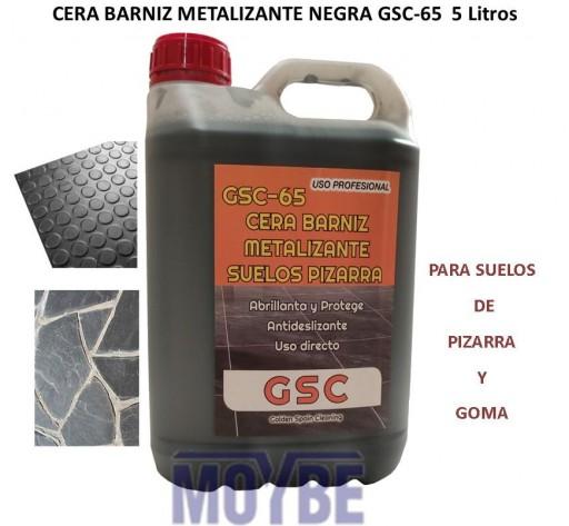 Cera Barniz Metalizante Negra Suelos Pizarra GSC-65  5 Litros