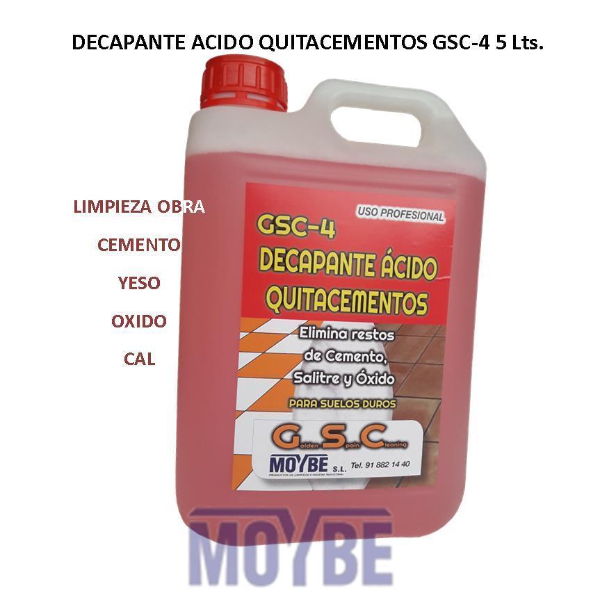 Decapante Acido Quitacementos GCS-4 5 Litros