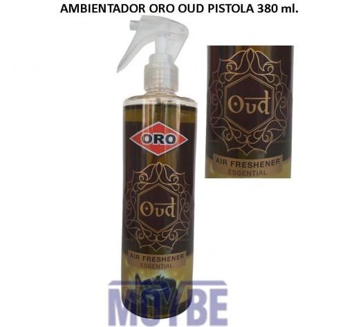 Ambientador Líquido ORO OUD Pistola 380 ml.