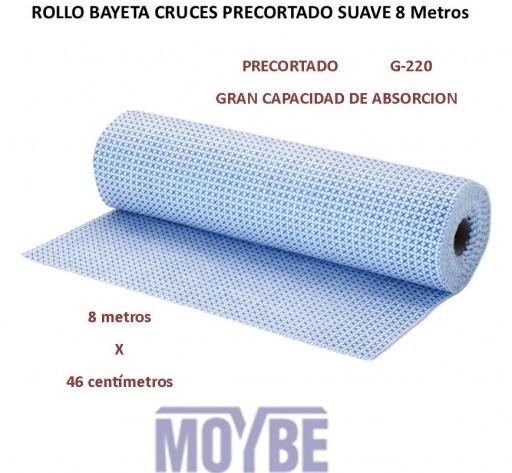 Rollo Bayeta Cruces Precortada Absorbente 8 Metros