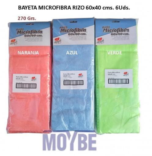 Bayeta Microfibra Rizo  60X40 Centímetros 6 Unidades
