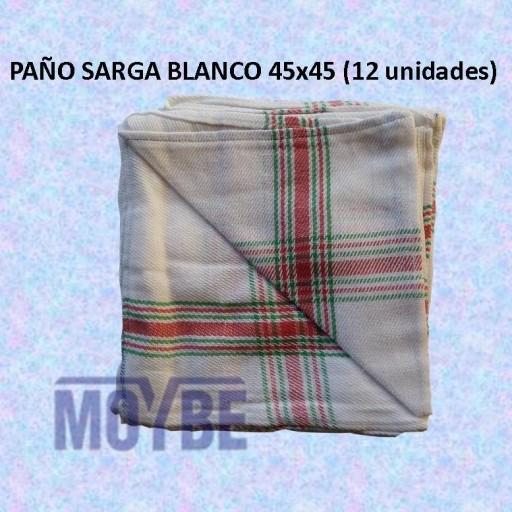 Paño SARGA Blanco 44x45 (12 Unidades)