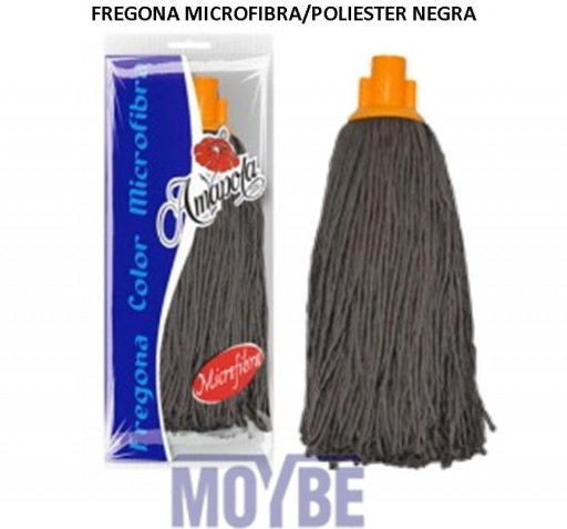 Fregona Microfibra Poliester Negra AMAPOLA [0]