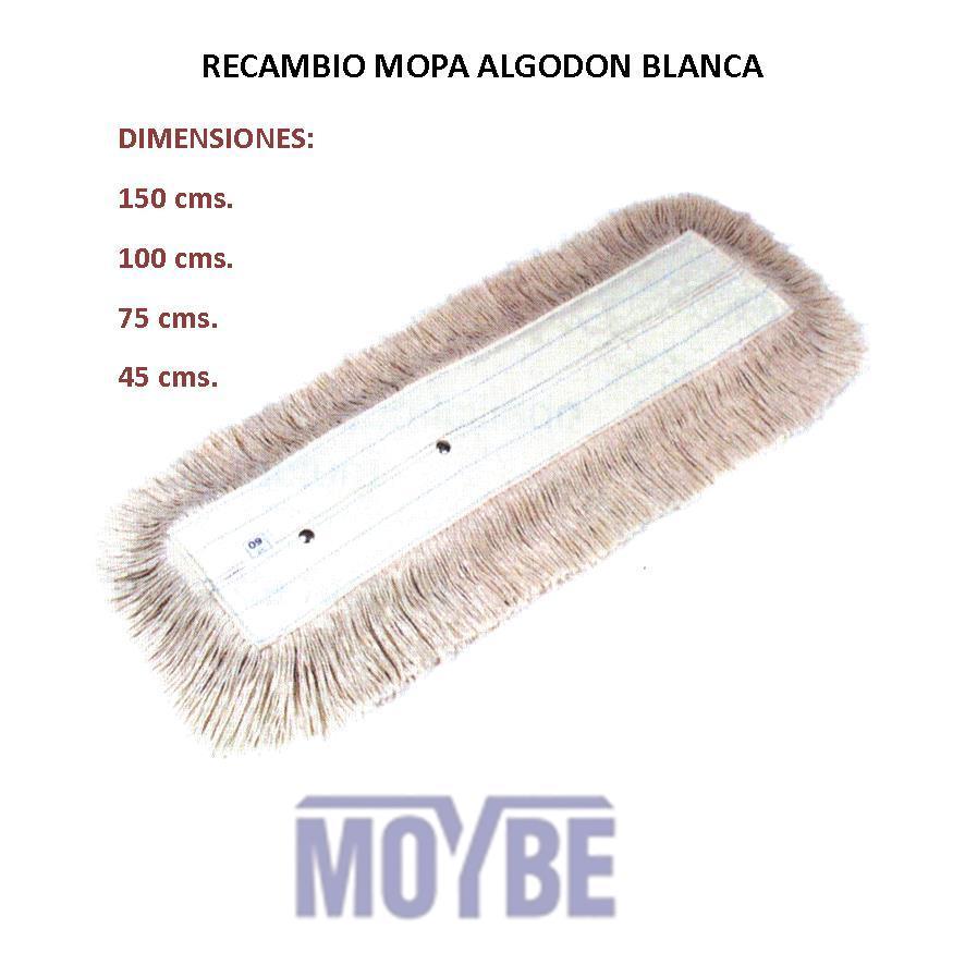 Recambio Mopa Algodón Puro 45 cm.