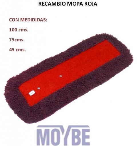 Recambio Mopa Roja 100cm
