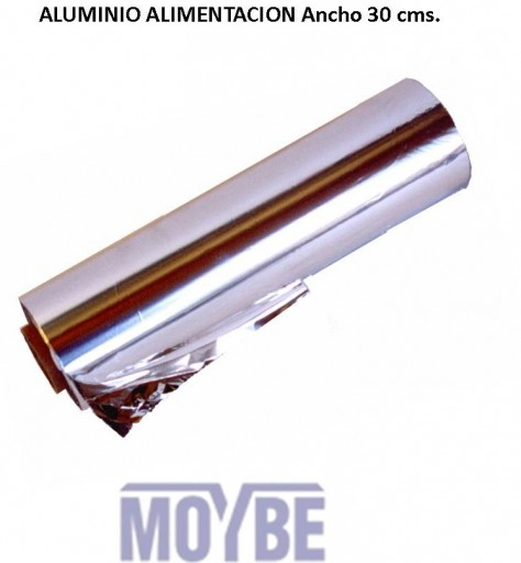 Papel Aluminio Industrial Ancho 30cms.