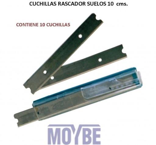 Cuchillas Rascador Suelos 10cm (10 Unidades)