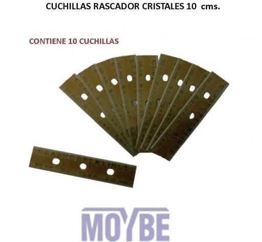 Cuchillas Cristales 10cm (10 Unidades)