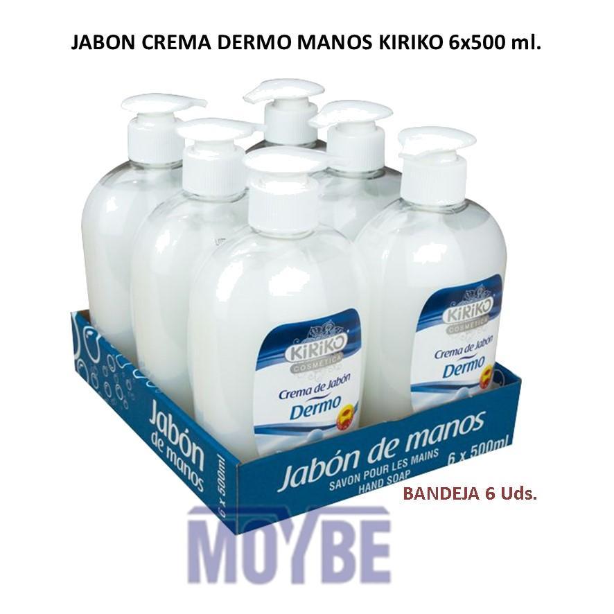Crema de Jabón Manos Dermo KIRIKO  Con Dosificador 6x500 ml.