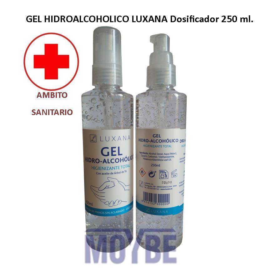 Gel Hidroalcoholico Antiséptico LUXANA Pulverizador 250 ml.
