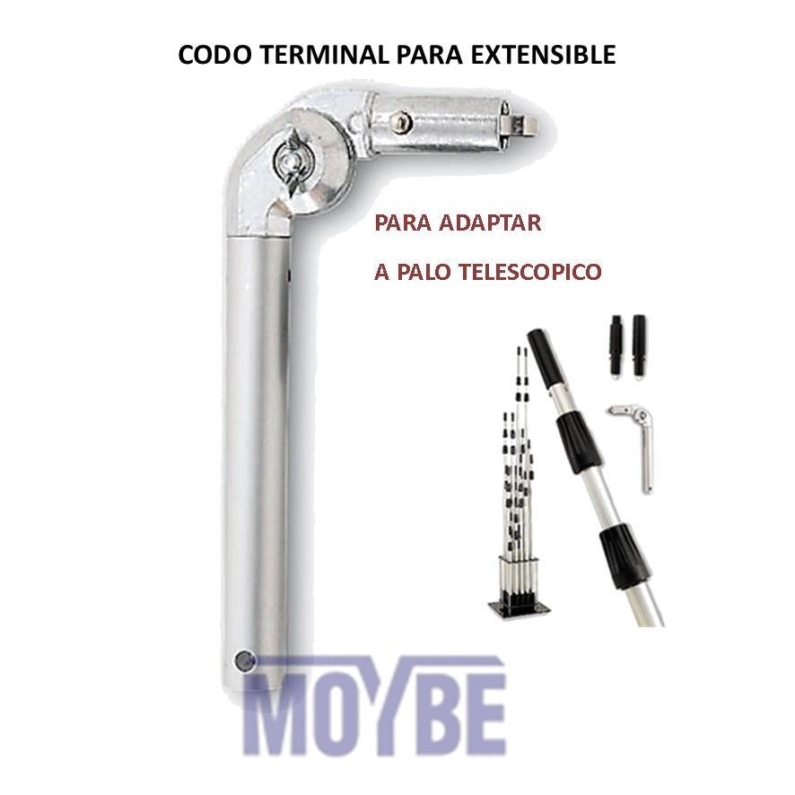 Codo Articulado Terminal Aluminio Extensible