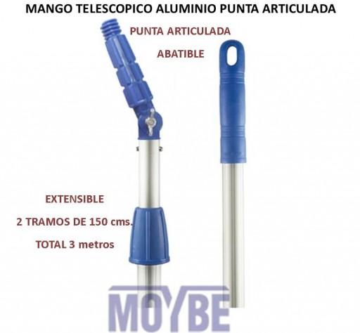 Mango Telescópico Punta Articulada 2x150 Centímetros ( 3 Metros)