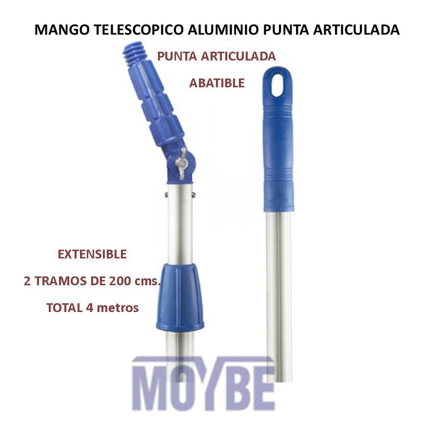 Mango Telescópico Punta Articulada 2x200 Centímetros (4 Metros)
