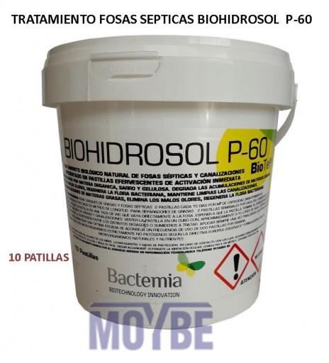 Tratamiento Fosas Sépticas BIOHIDROSOL P-60 10 Pastillas