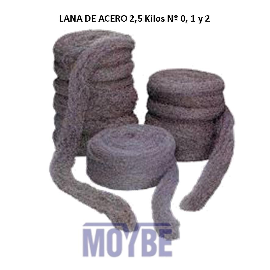 Lana Acero Rizada Número 2 (2,5 Kg.)
