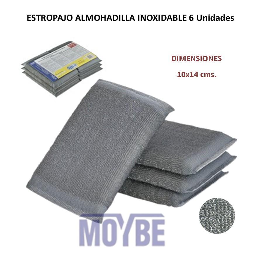 Almohadilla Abrasiva Inoxidable (Pack 6 Uds.)