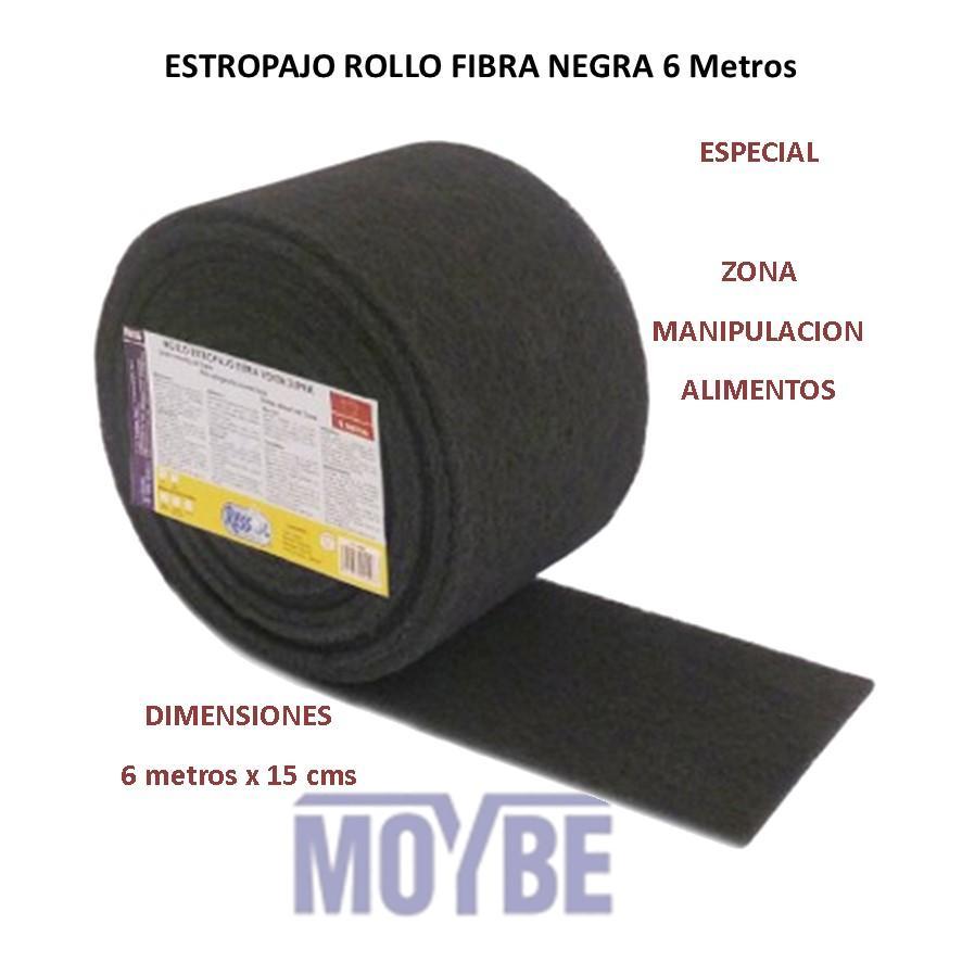 Estropajo Rollo Negro Superlimpieza 600x15