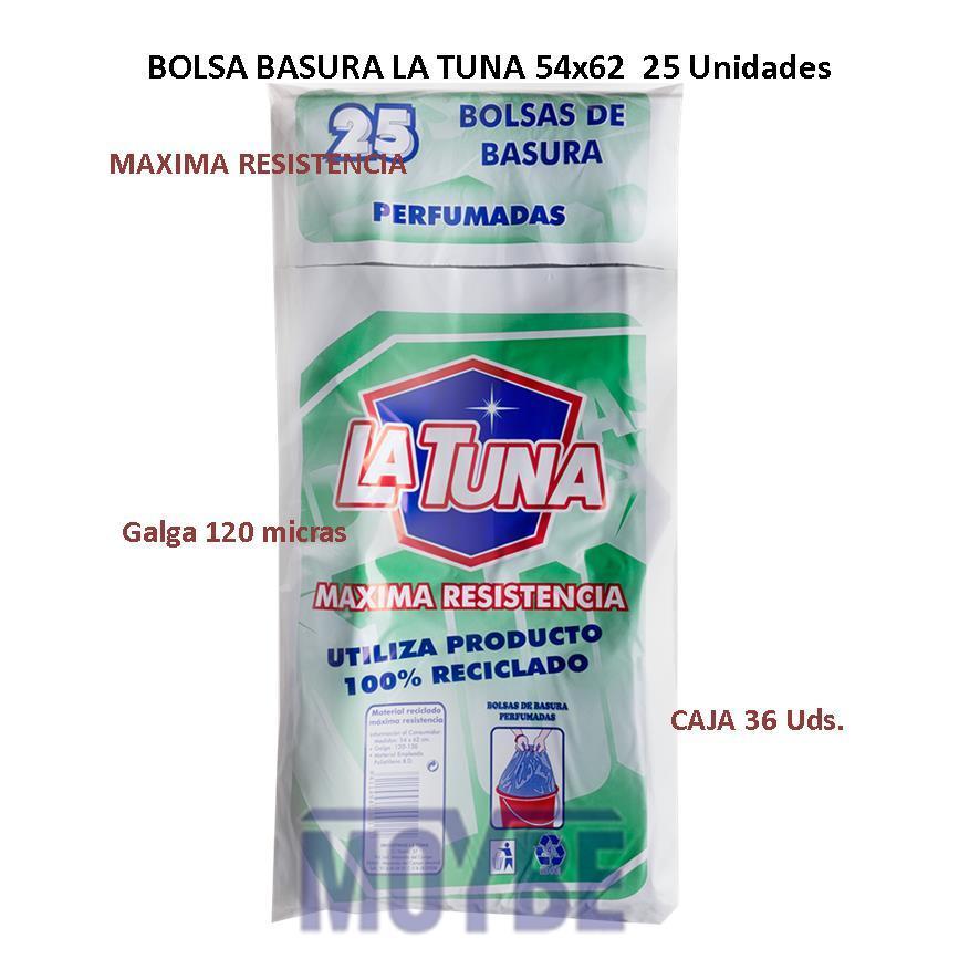 Bolsa de Basura LA TUNA 54x62 (25 Unidades)