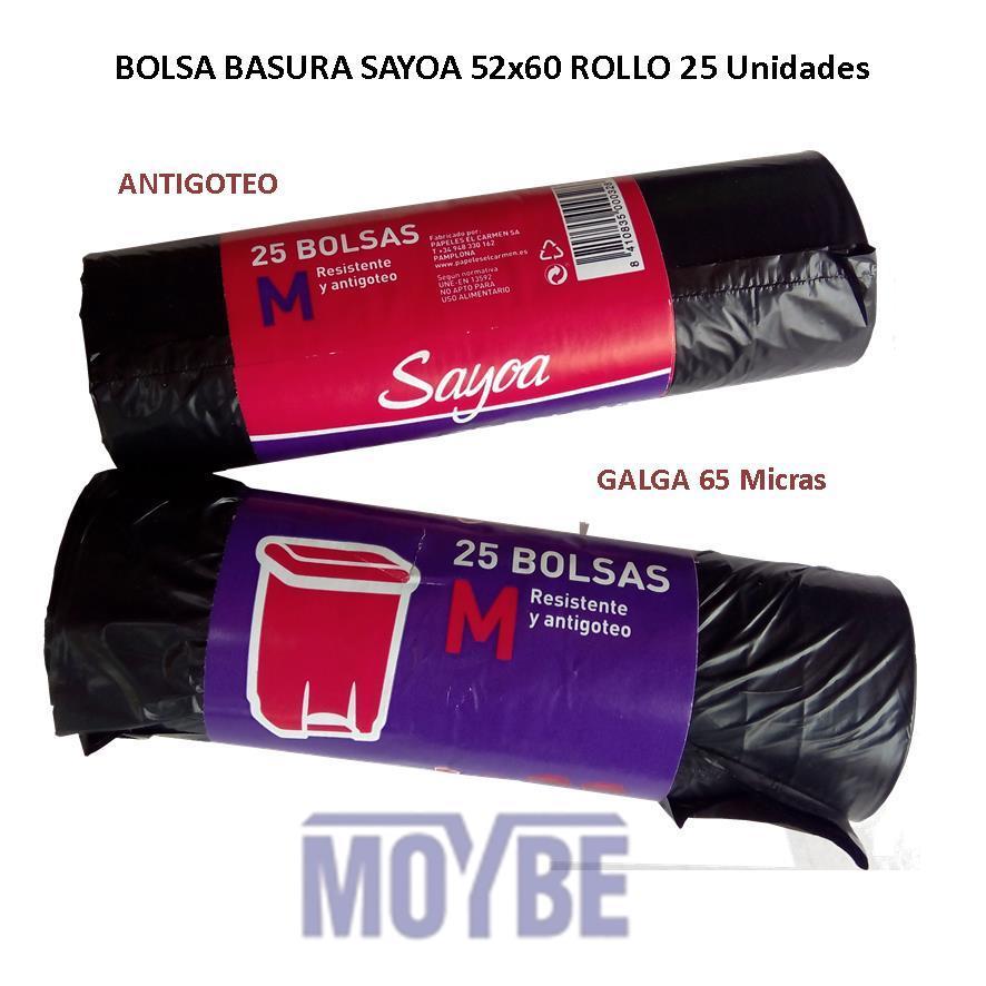 Bolsa de Basura SAYOA 52x60 (25 Unidades)