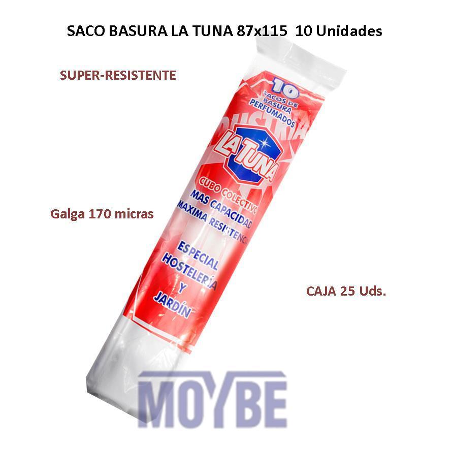 Saco de Basura LA TUNA 87x110 (10 Unidades)