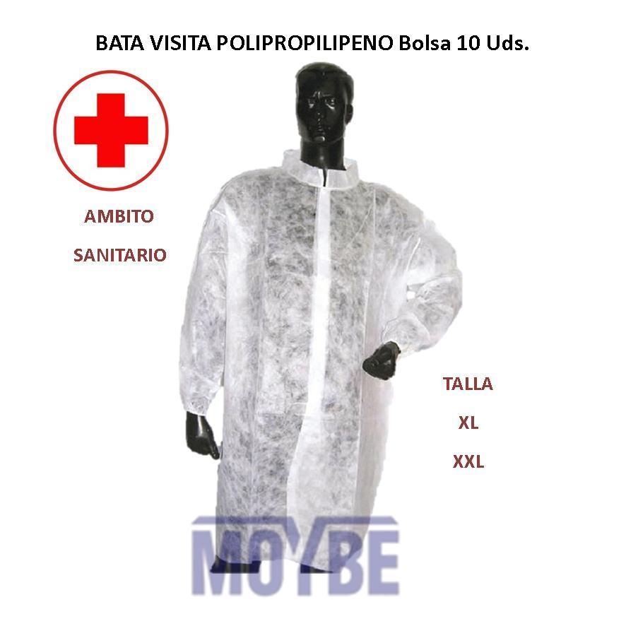 Bata Visita Polipropileno Bolsa 10 unidades