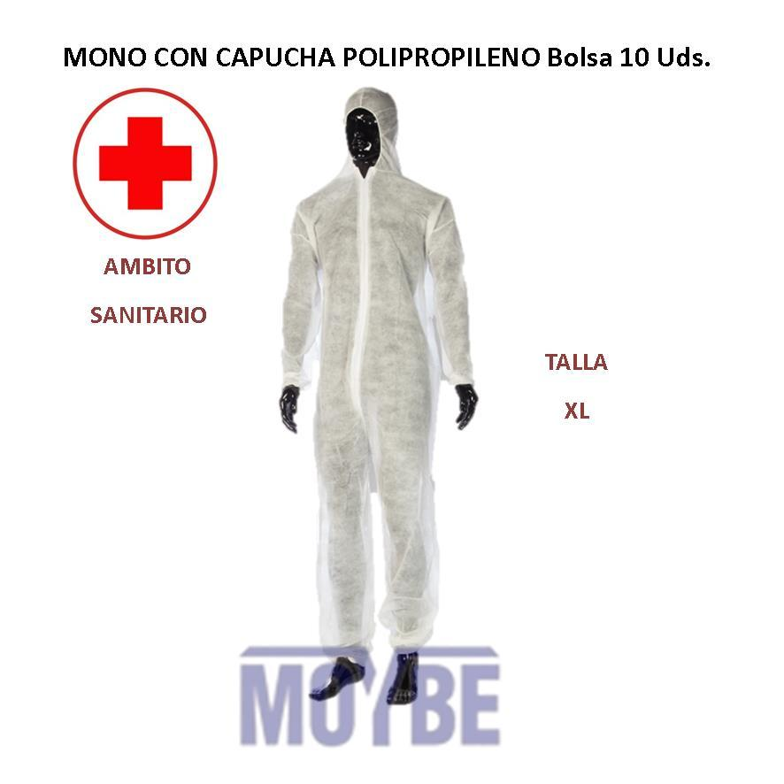 Mono Con Capucha Polipropileno Bolsa 10 Unidades