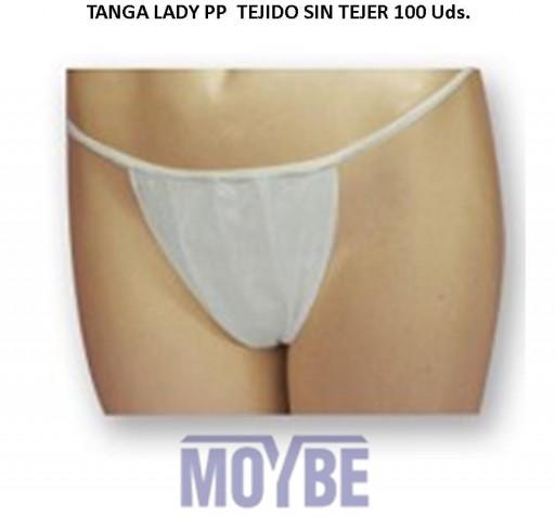 Tanga LADY PP Tejidon Sin Tejer Paquete 100 Unidades