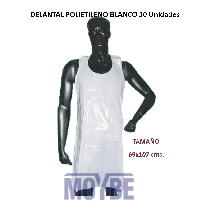 Delantal Polietileno Blanco 100 Unidades