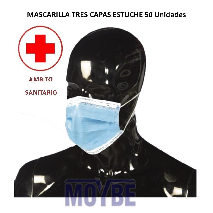 Mascarilla Tres Capas Estuche 50 Unidades