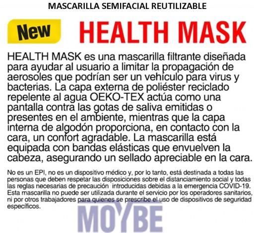 Mascarilla Facial Reutilizable HEALTH MASK [2]