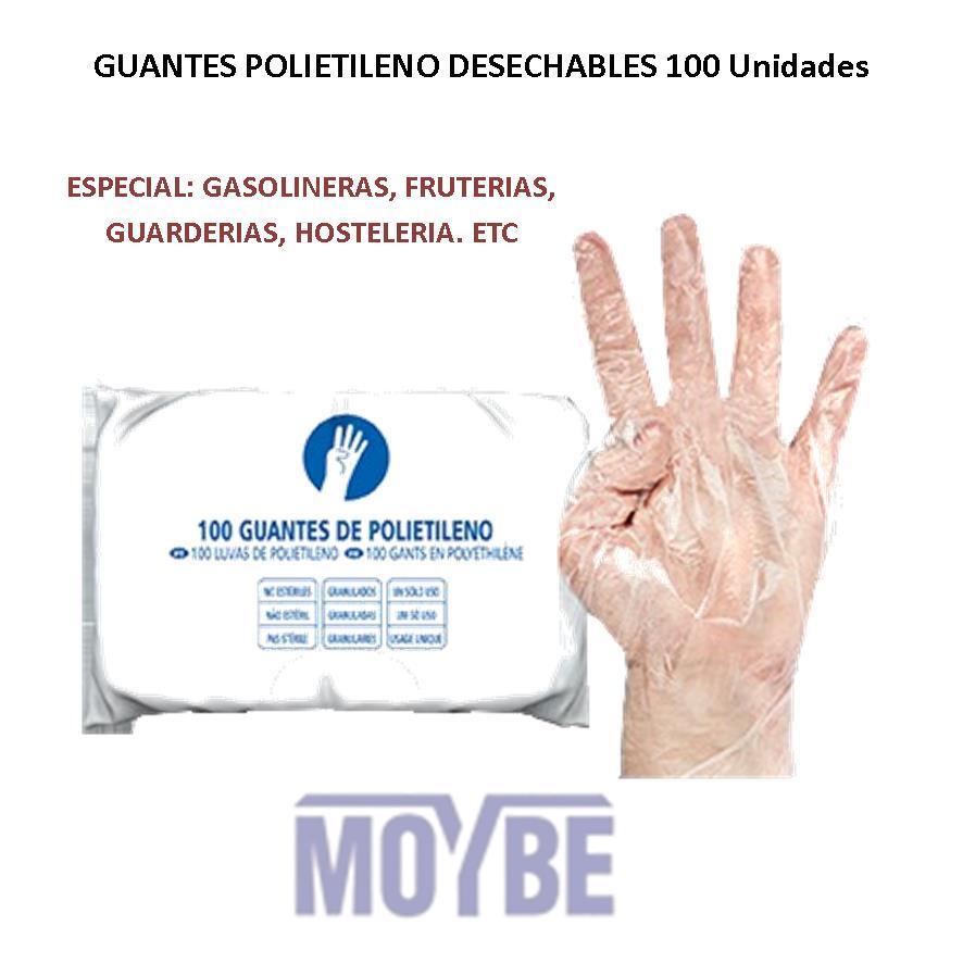 Guantes de Polietileno Desechables (100 Unidades)