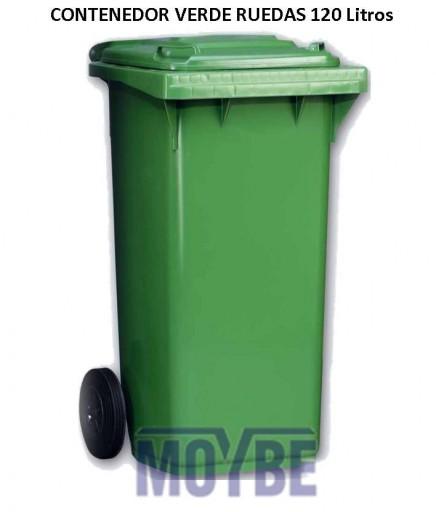 Contenedor Con Ruedas Verde (120 litros)