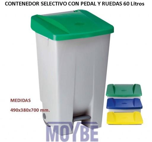 Contenedor Selectivo Ruedas con Pedal (60 litros)